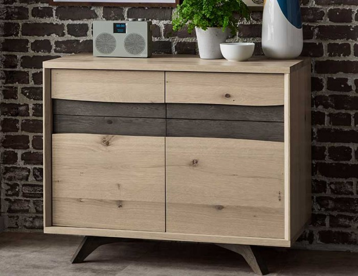 Cadell Aged & Weathered Oak Narrow Sideboard