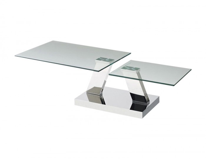 Austere Glass Swivel Coffee Table