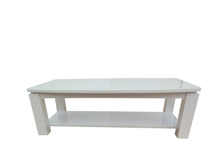 Kano White Glass Coffee Table