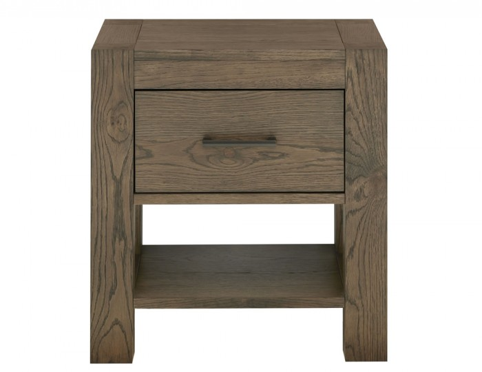 Ventura Dark Oak 1 Drawer Nightstand