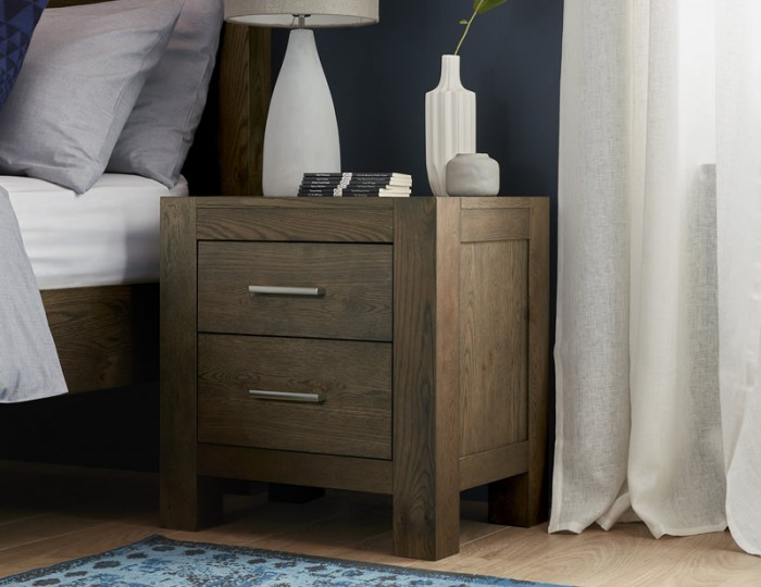 Ventura Dark Oak 2 Drawer Bedside