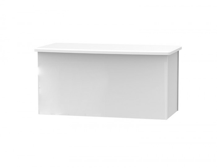 Halifax White High Gloss Blanket Box
