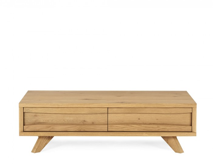 Cadell Rustic Oak Coffee Table with Drawer