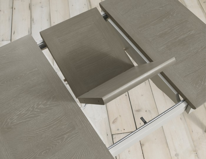 Bergen Extending Oak & Soft Grey Two-Tone Set