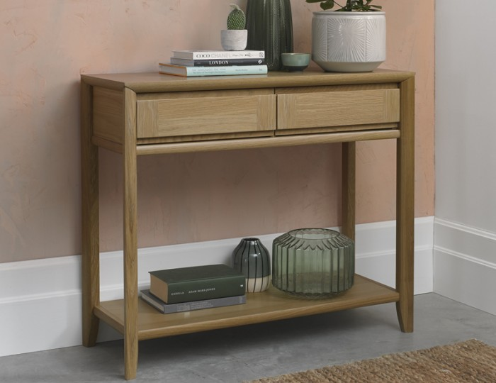 Bergen Oak Console Table