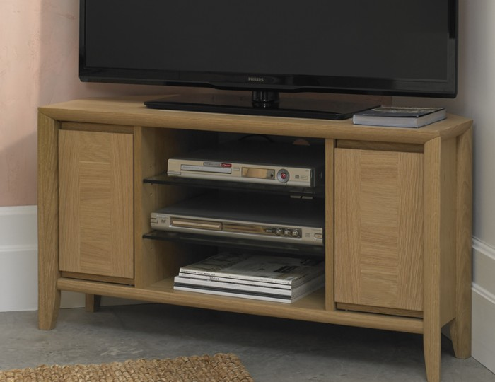 Bergen Oak Corner Entertainment Unit