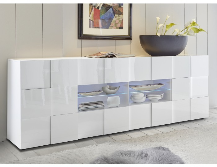 Dama 2 Door 4 Drawer High Gloss Sideboard