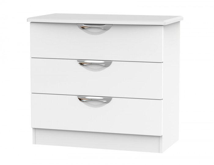Halifax White Matt 3 Drawer Chest