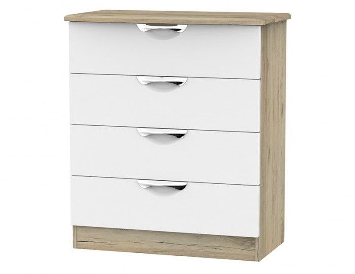 Halifax Grey Bordeaux 4 Drawer Chest