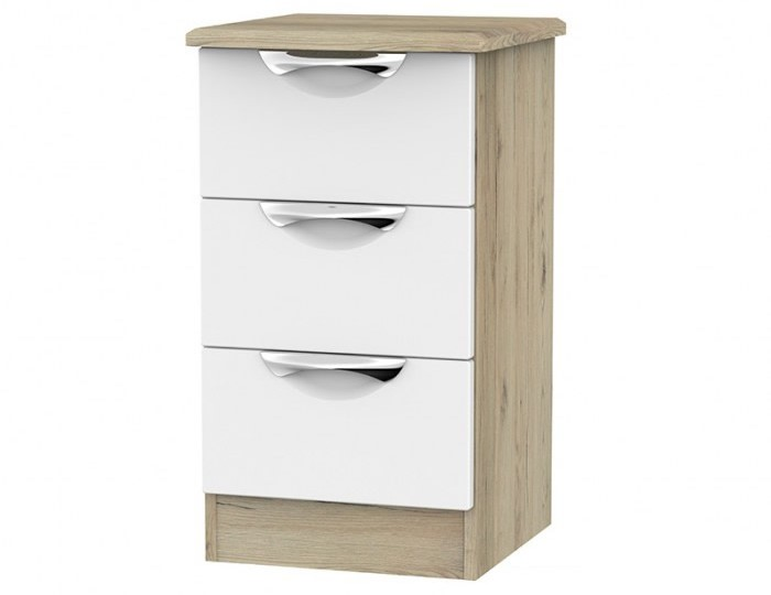 Halifax Grey Bordeaux 3 Drawer Bedside Chest