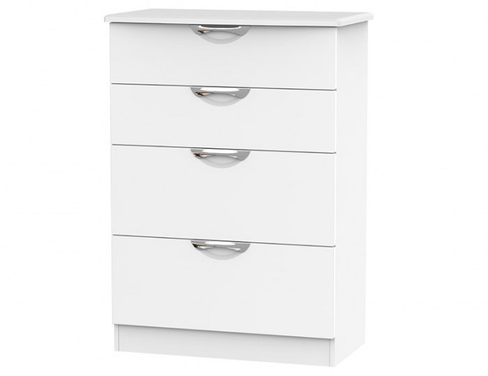 Halifax White Matt 4 Drawer Deep Chest