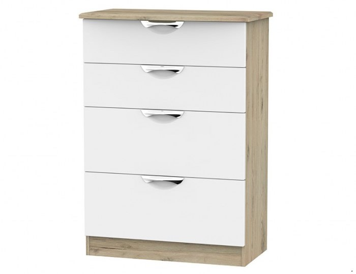 Halifax Grey Bordeaux 4 Drawer Deep Chest