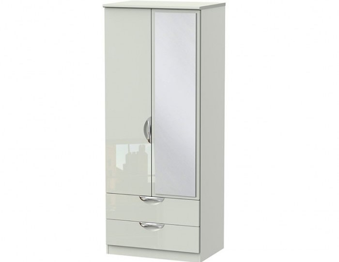 Halifax Kaschmir Gloss 2 Door 2 Drawer Mirrored Wardrobe
