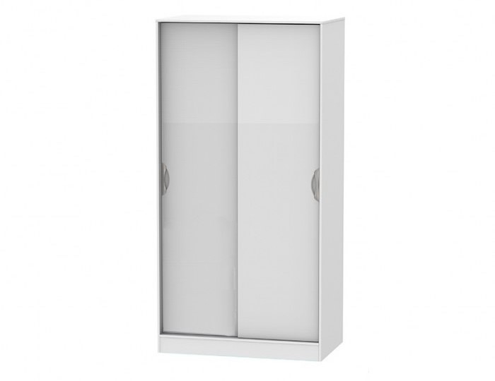Halifax White High Gloss Sliding Door Wardrobe