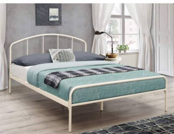 Tokyo 4ft 6 Cream Metal Bed Frame *Special Offer*