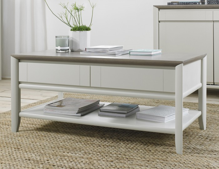 Bergen Oak & Soft Grey Coffee Table