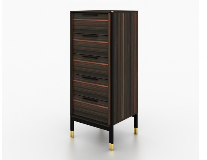 Bali Ebony 5 Drawer Tallboy Chest