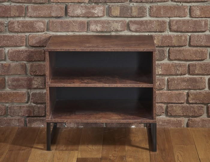 Carlos Copper Open Shelved Bedside Table
