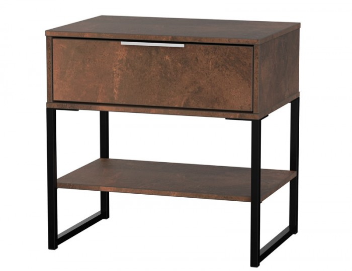 Carlos Copper 1 Drawer Nightstand