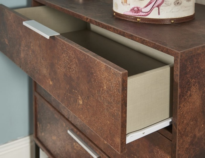 Carlos Copper 4 Drawer Chest