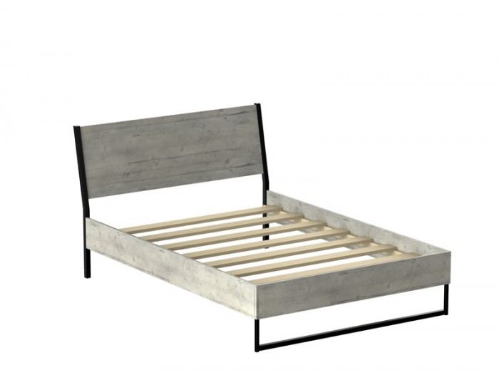 Carlos Concrete Wooden Bed Frame