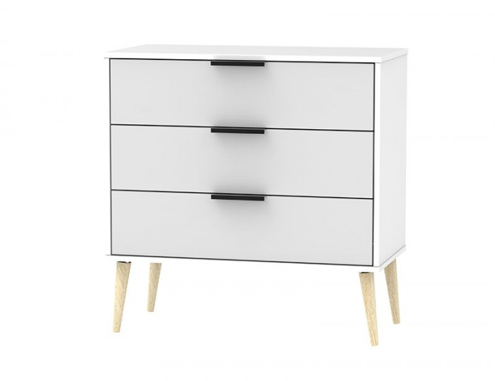 Hong Kong Grey Matt 3 Drawer Midi Chest