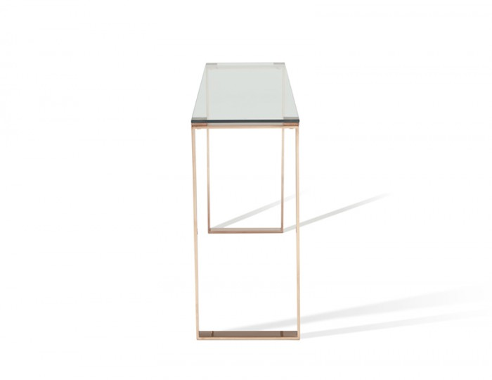 Kayla Rose Gold Console Table