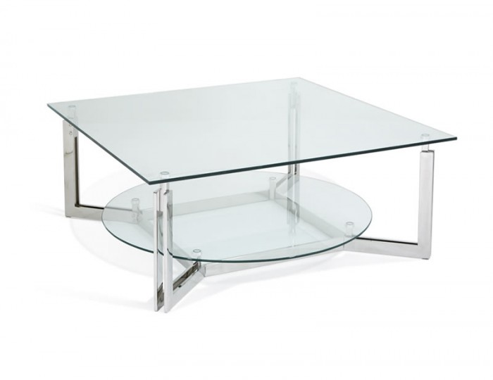 Eclipse Silver Glass Coffee Table