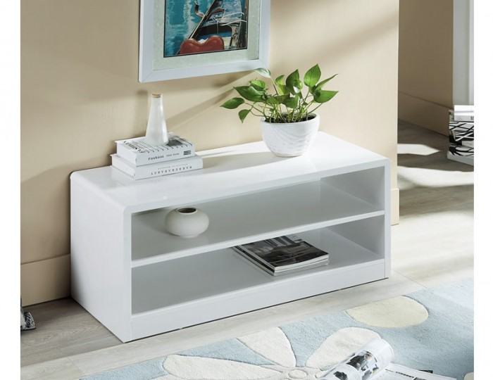 Manhattan White High Gloss TV Unit