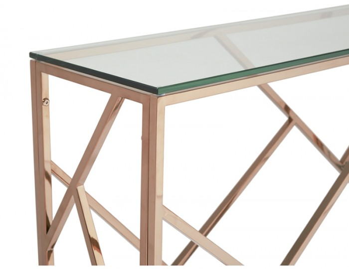 Phoenix Rose Gold Console Table