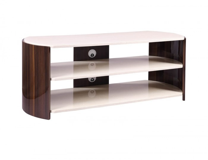 Milan Walnut & Cream TV Stand