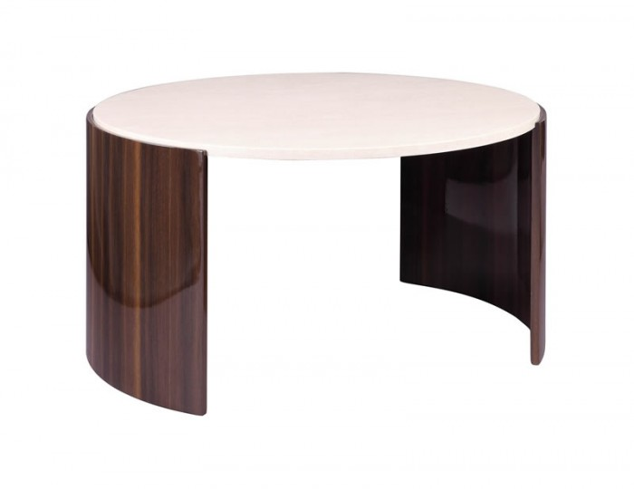 Milan Walnut & Cream Coffee Table