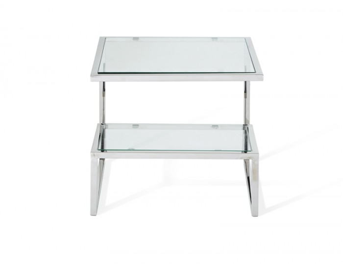 Mera Silver Lamp Table
