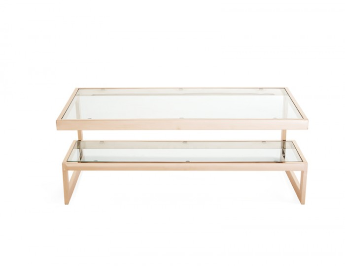 Mera Rose Gold Coffee Table