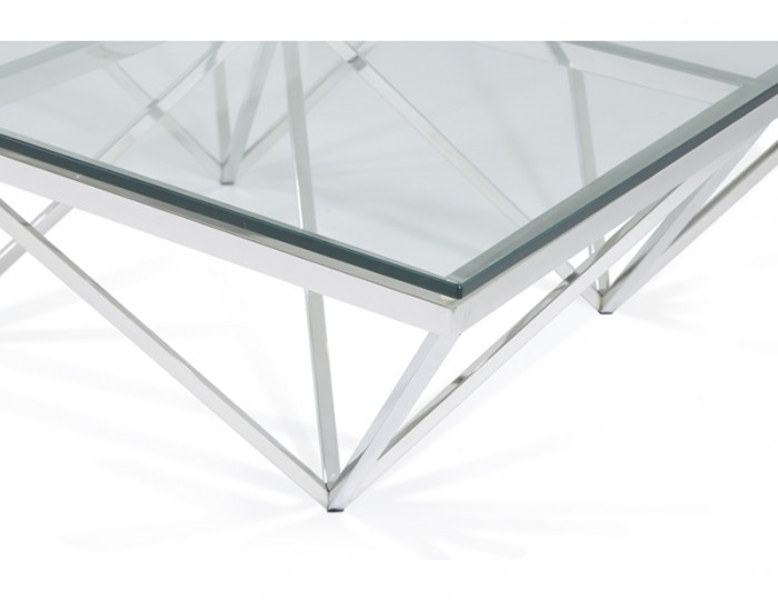 Star Square Silver Coffee Table