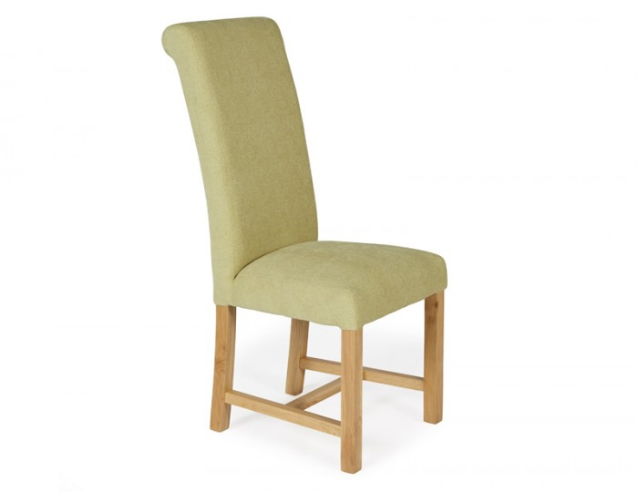 Greenwich Oatmeal Fabric Oak Dining Chair
