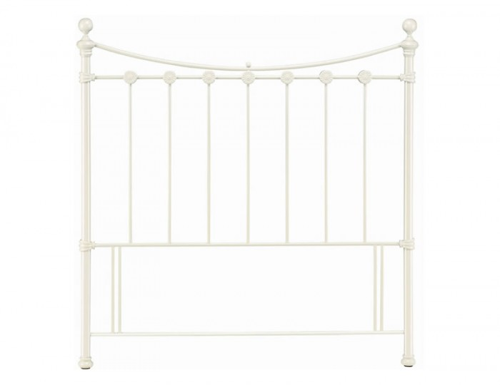 Alice White Metal Headboard