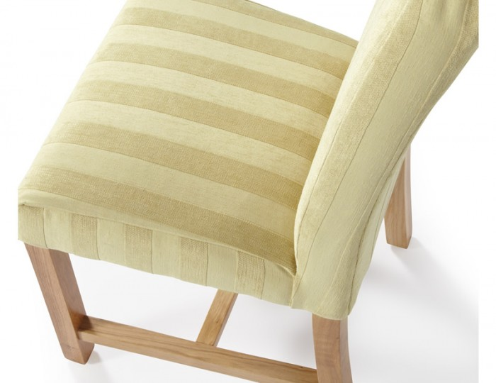 Greenwich Oatmeal Stripe and Oak Dining Chair