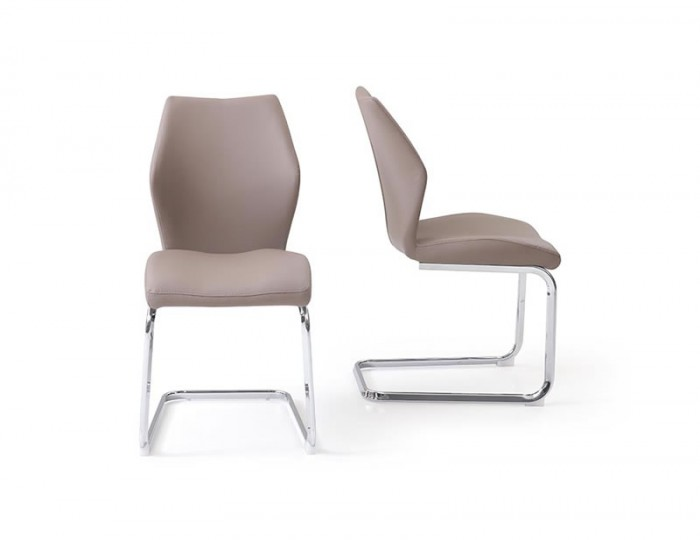 Rowan Taupe Faux Leather Dining Chair Frances Hunt