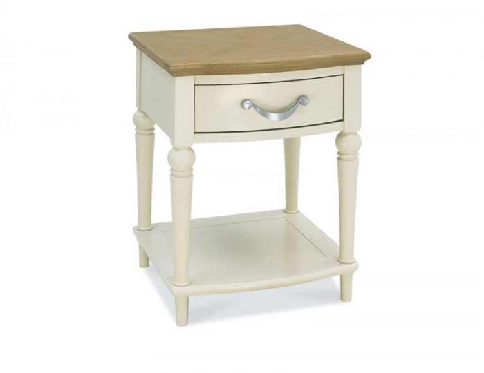Montreux Antique White & Oak 1 Drawer Nightstand