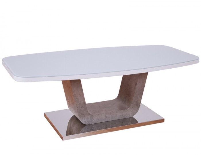 Glendale White High Gloss & Stone Effect Coffee Table