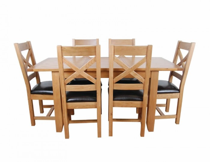 Scotay Oak Small Extending Dining Table and Chairs