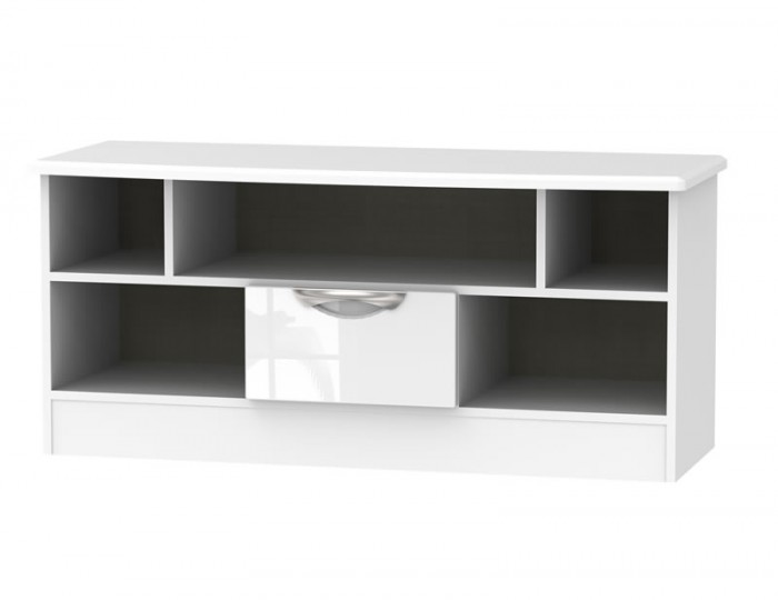 Halifax White High Gloss Open TV Unit
