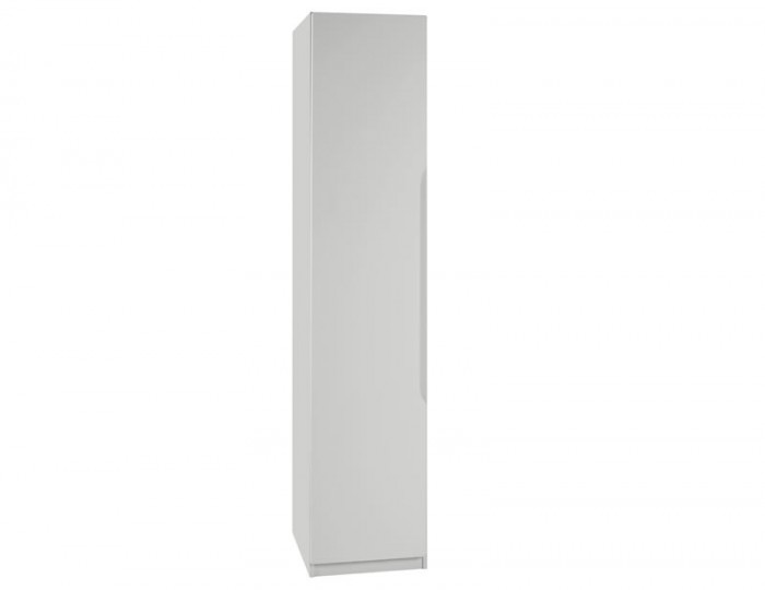 Warren Light Grey 1 Door High Gloss Wardrobe