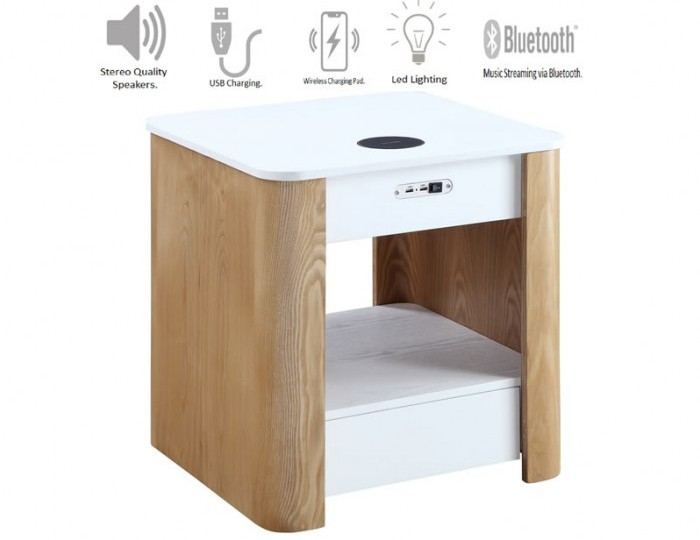 San Francisco Two-Tone Smart Bedside Table