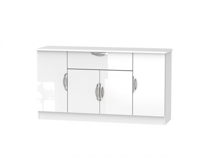 Halifax White High Gloss 4 Door 1 Drawer Sideboard