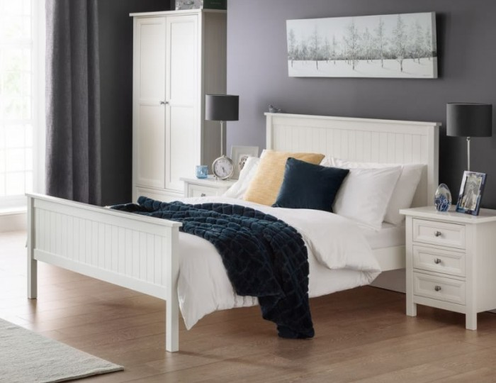 Foxcroft Surf White Wooden Bed Frame