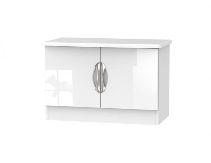Halifax White High Gloss 2 Door Low TV Unit