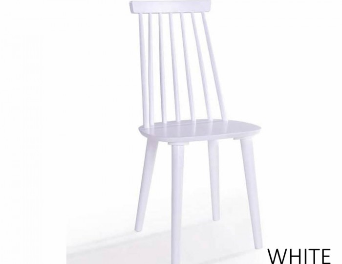 Riata Round White Wooden Breakfast Table and Chairs