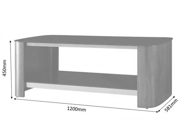 Melbourne Walnut and Glass Top Coffee Table